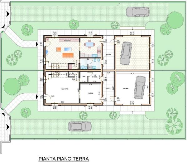 Tecnocasa isola della scala isola della scala nuova - Pianta casa bifamiliare ...